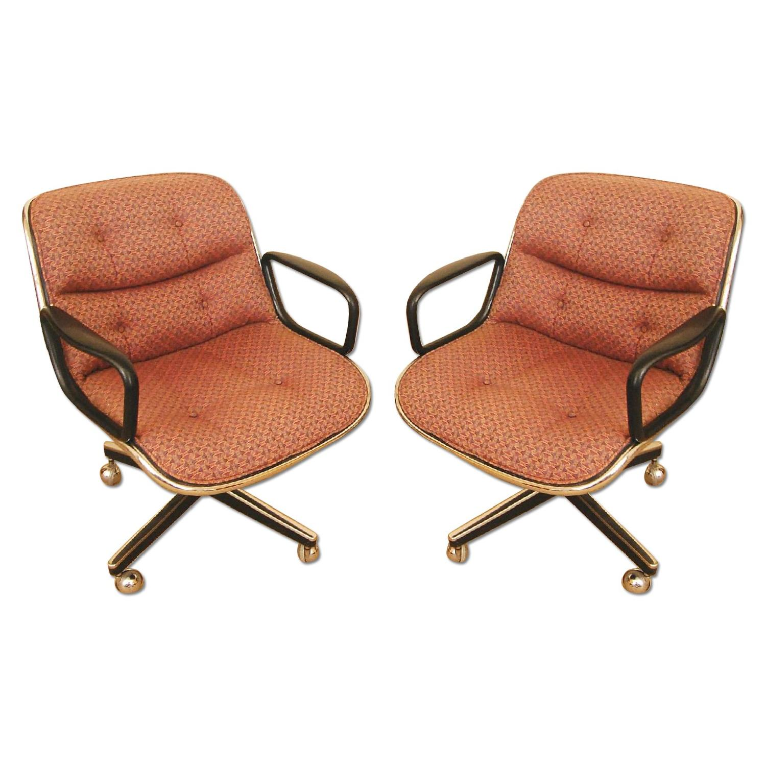 Mid Century Modern Swivel Desk Chair by Charles Pollock AptDeco