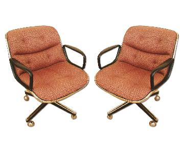Mid-Century Modern Swivel Desk Chair by Charles Pollock for Knoll
