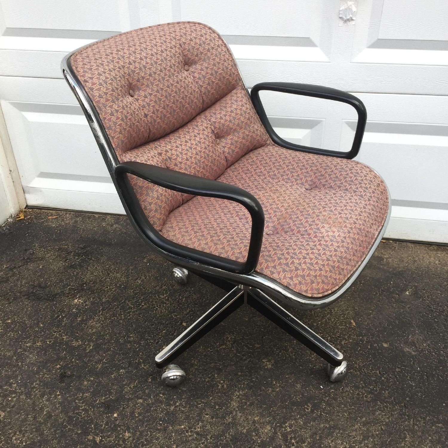 Mid Century Modern Swivel Desk Chair By Charles Pollock