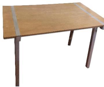 Wood & Metal Rectangle Table