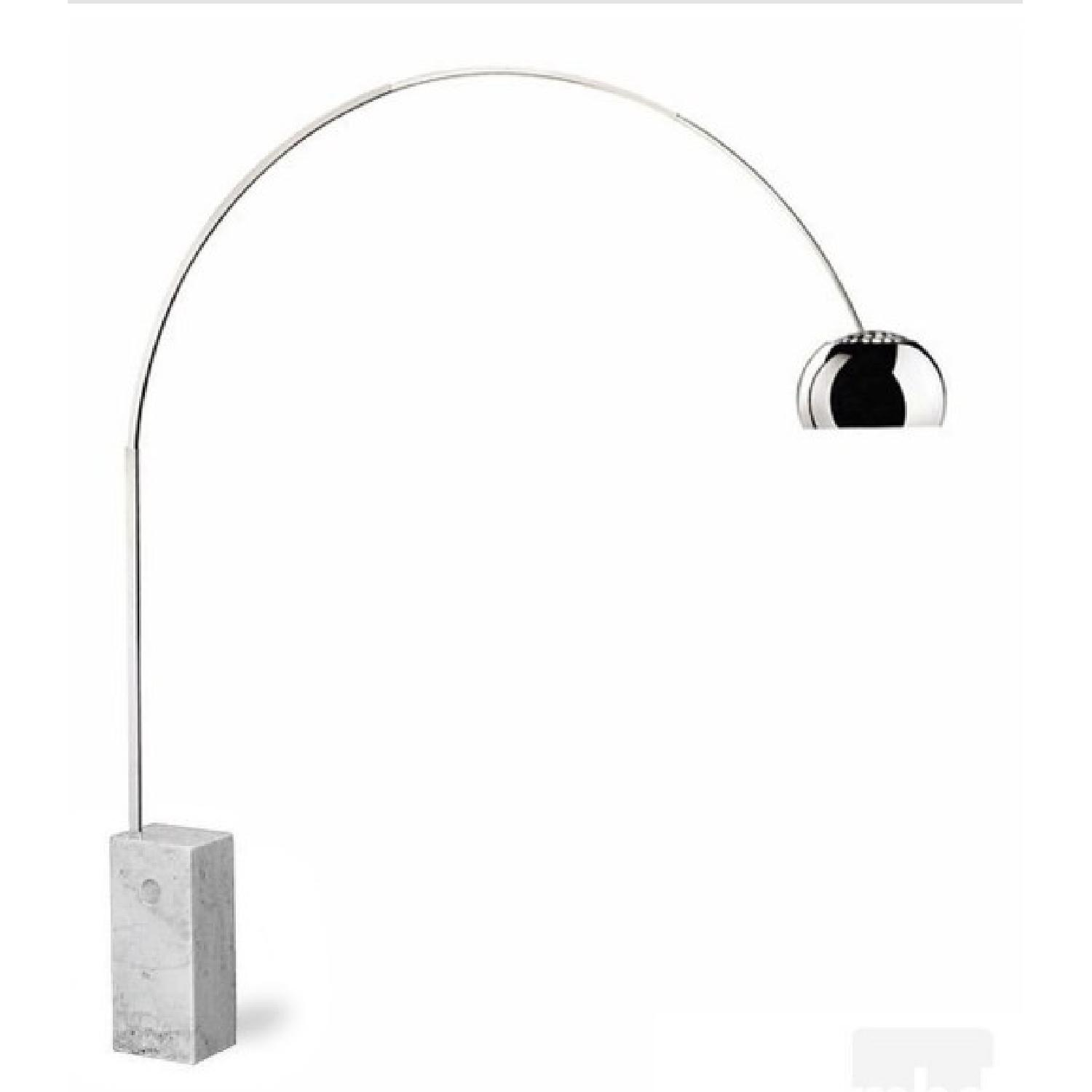 Arco lamp Replica in White