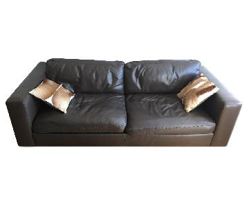 Design Within Reach Leather Sofa