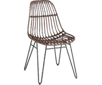 Rattan Hairpin Dining Room Chairs