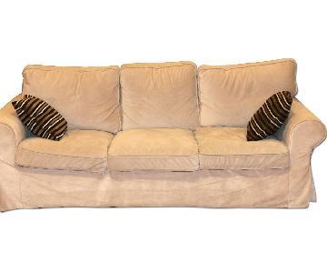 Ikea Ektorp Sofa w/ Custom Velvet Cover