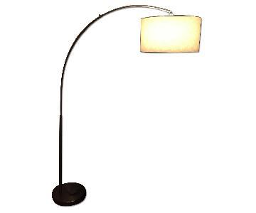 CB2 Big Dipper Arc Floor Lamp in Brushed-Nickel