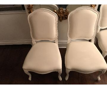 CB2 White Dining Chair