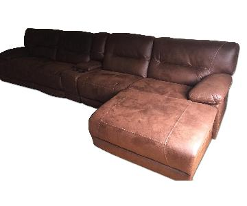 Bob's 5-Piece Power Reclining Sectional w/ Chaise