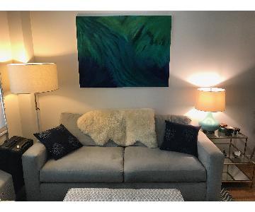 Room & Board Taft Light Grey Couch