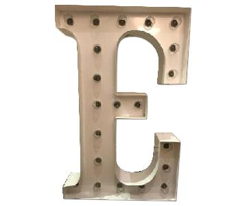 Vintage Light Up Marquee Letter Sign - E