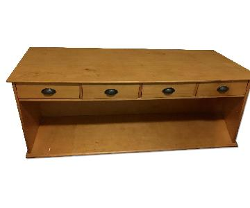 Pottery Barn Solid Wood TV Console w/ Drawers