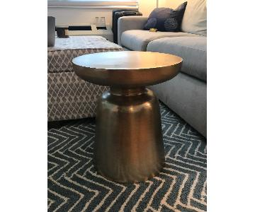 West Elm Martini Brass Side Table