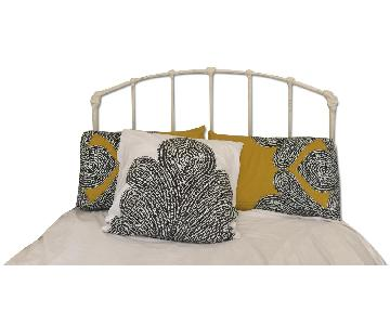 Pottery Barn Cream Iron Headboard