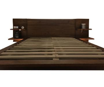 CB2 Andes Acacia Platform Queen Bed Frame