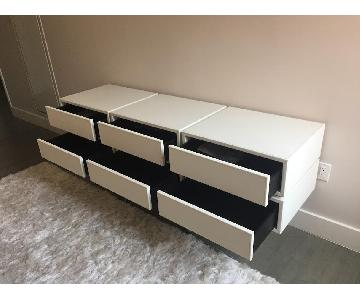 Tui Lifestyle White Leather Credenza