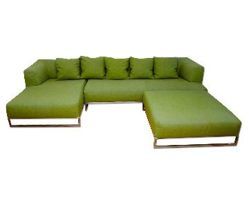 B&B Italia Solo Sectional Sofa & Ottoman