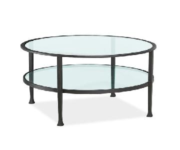 Pottery Barn Tanner Round Coffee Table in Bronze Finish