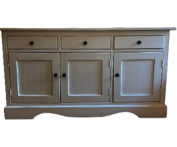 Nadeau Hand Made White 3-Door Buffet/Credenza