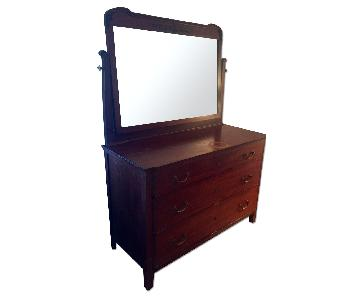 Antique Mahogany Dresser w/ Mirror
