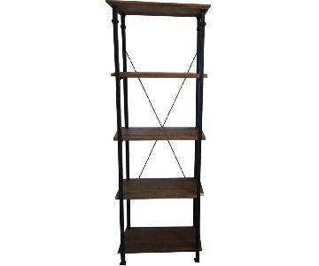 Modern Reclaimed Wood & Metal Bookcases