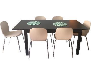 Ikea Bjursta Dining Table w/ 6 Svenbertil Chairs