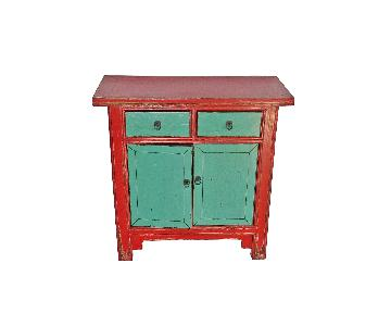 Modena Vintage Multicolored Small Wood Cabinet