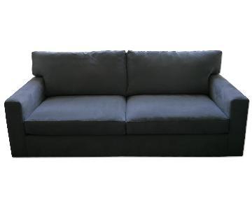 Crate & Barrel Axis II 2-Seat Queen Sleeper Sofa in Nickel