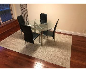Circular Table w/ 4 Dining Chairs