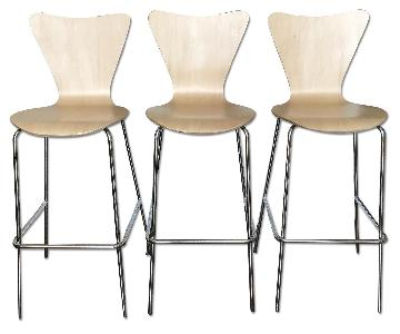 Modway Ernie Wood Bar Stools in Natural