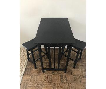 Conrad 3 Piece Black Counter Height Set