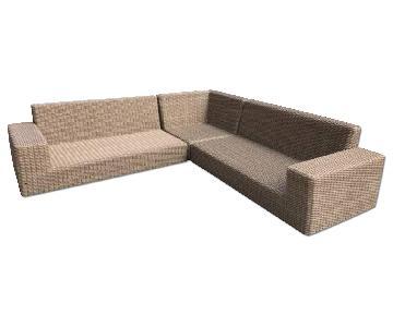 Crate & Barrel Newport Outdoor Sectional Sofa
