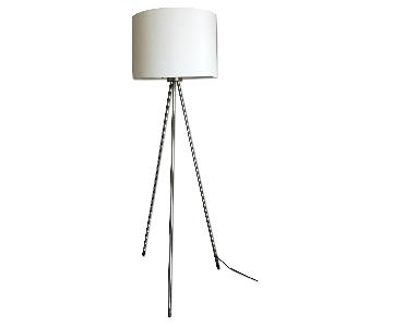 Contemporary 3 Legged White Floor Lamp