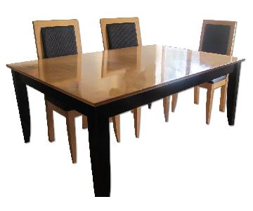 Contemporary French Dining Table w/ 6 Chairs