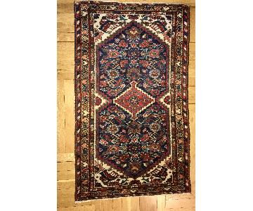 Antique Handmade Persian Hamadan Wool Rug