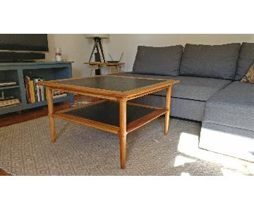 Mid Century Solid Wood Coffee Table