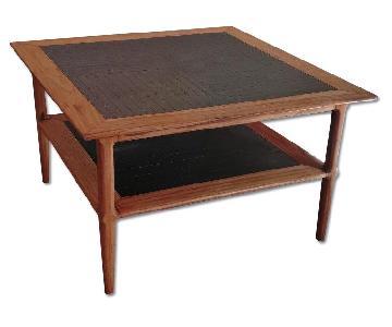 Mid Century Solid Wood Coffee Table