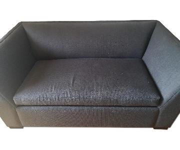 CB2 Dark Grey 2 Seater Sleeper Sofa