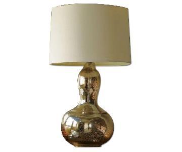 Gourd Table Lamp in Mercury