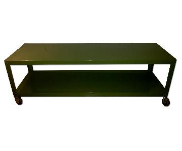 CB2 Go-Cart Rolling TV Stand/Coffee Table