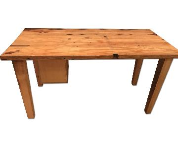 Natural Wooden Table/Desk