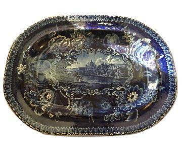 Antique 1822 R.Hall Serving Plater