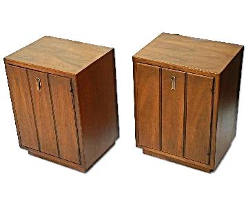 Mid Century Modern Walnut Nightstands/End Tables