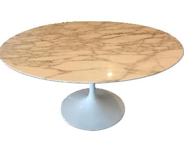 Saarinen Round Marble Tulip Dining Table (5 tulip chairs also available)