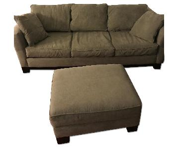Macy's Kenton Fabric Sleeper Sofa & Ottoman