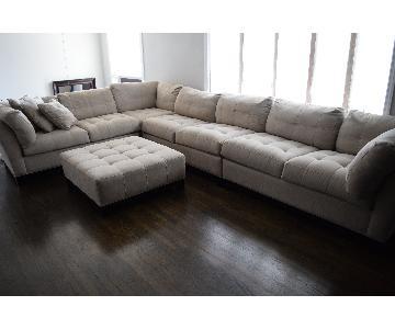 Raymour & Flanigan Cindy Crawfor Home Metropolis Sectional Sofa