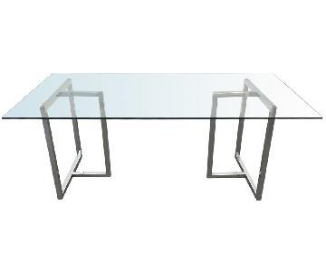 CB2 Silverado Chrome Rectangular Dining Table