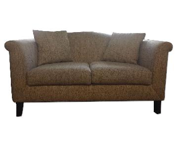 Custom Made Tweed Love Seat