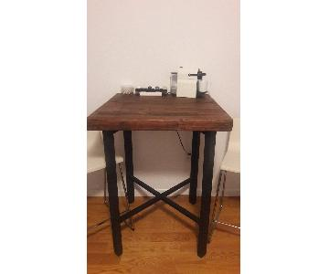 Pottery Barn Griffin Reclaimed Wood & Metal Bar Height Table