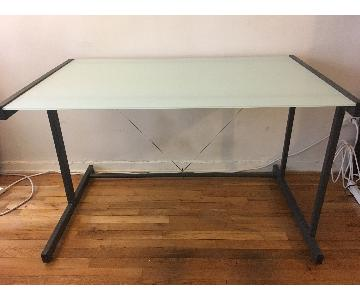 West Elm Tempered Glass Desk