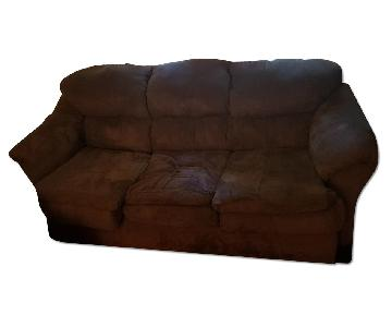 Chocolate 3 Seater Sofa + Recliner