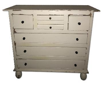 Nadeau Furniture White Reclaimed Dresser